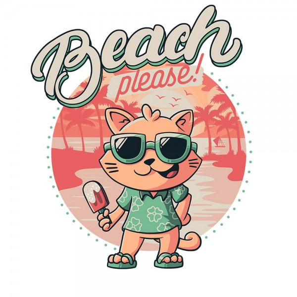 Beach Please Cat