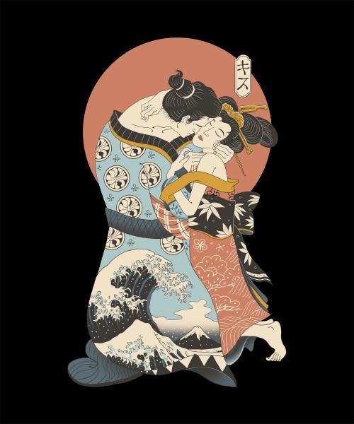 The Kiss Ukiyo-E