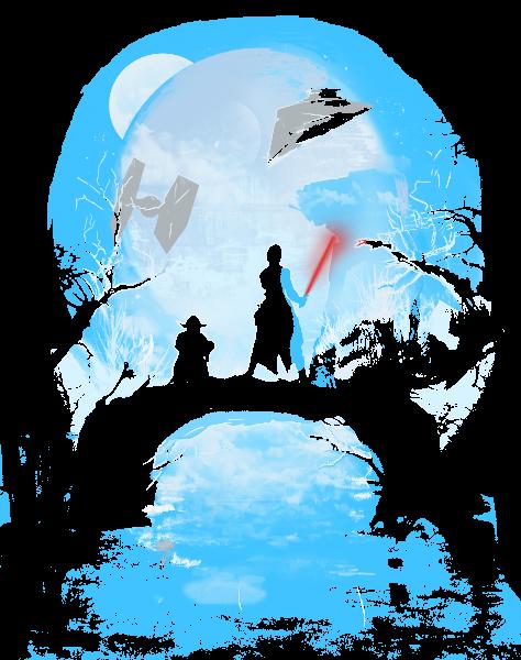 Death Star in Moonlight