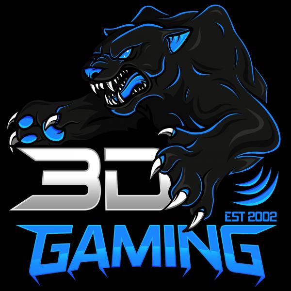 3D-Gaming blau