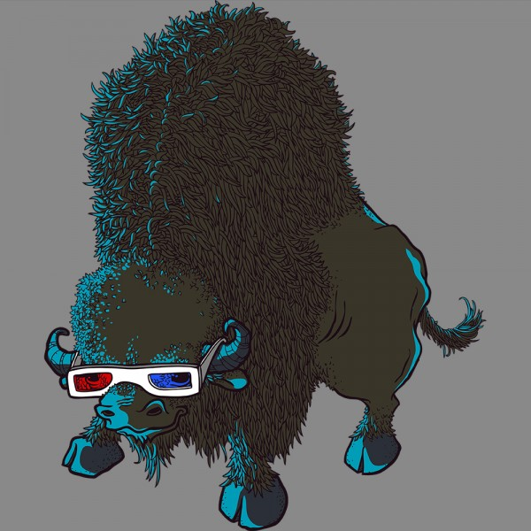 Bison Watching 3D Movies