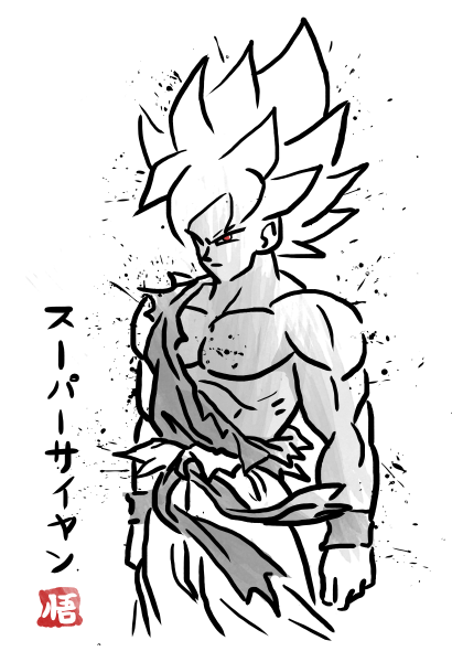 Sketch super warrior