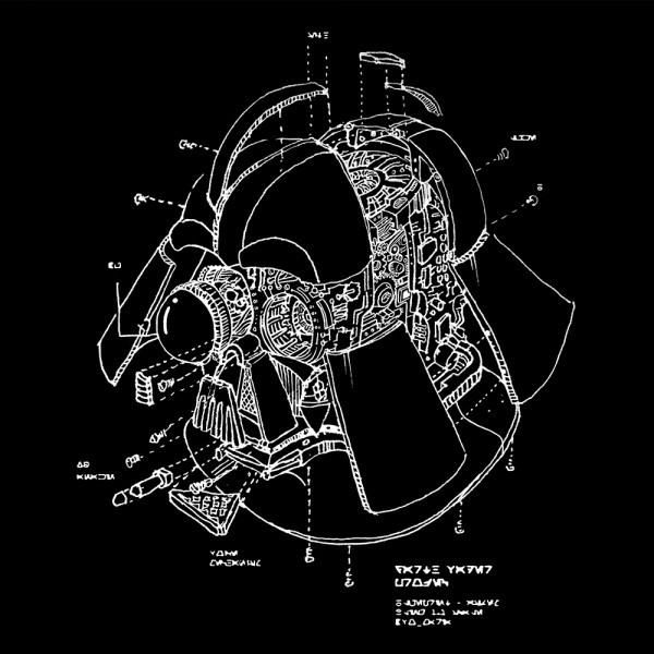 Darth Vader Helmet Blueprint
