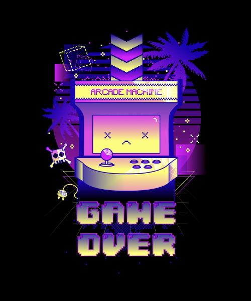 Game Over Arcade Machine