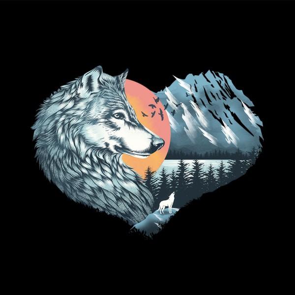 Heart Animals - White Wolf